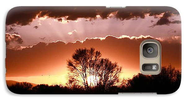 Galaxy Case featuring the photograph Summer Sunset by Steven Reed