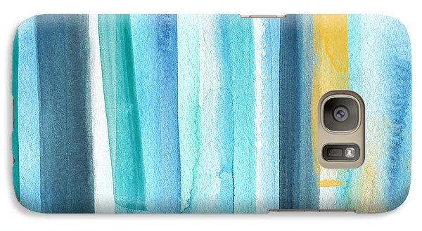 Galaxy S7 Case - Summer Surf- Abstract Painting by Linda Woods