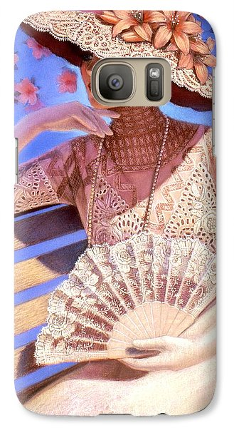 Galaxy Case featuring the painting Summer Time by Sue Halstenberg