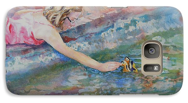 Galaxy Case featuring the painting Summer's Day by Mary Haley-Rocks