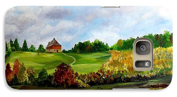 Galaxy Case featuring the painting Summer's End by Julie Brugh Riffey