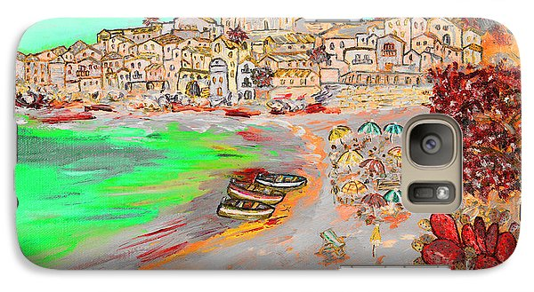 Galaxy Case featuring the painting Summertime In Cefalu' by Loredana Messina