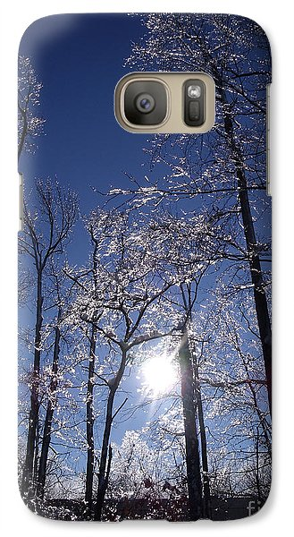 Galaxy Case featuring the photograph Sun And Ice by Lyric Lucas