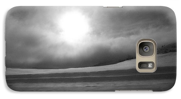 Galaxy Case featuring the photograph Sun And Snow by Tarey Potter