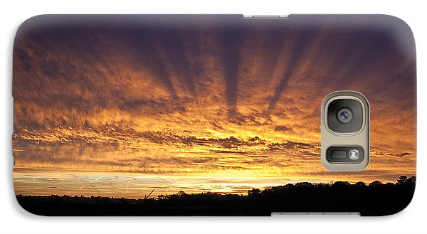 Galaxy Case featuring the digital art Sun Blast by David Davies