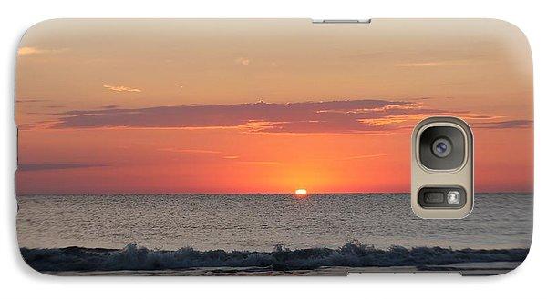 Galaxy Case featuring the photograph Sun Breaks Horizon by Robert Banach