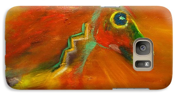 Galaxy Case featuring the painting Sun Dance by Barbie Batson