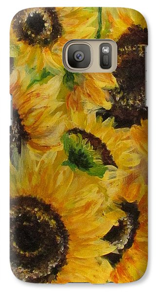 Galaxy Case featuring the painting Sun Danse by France Laliberte