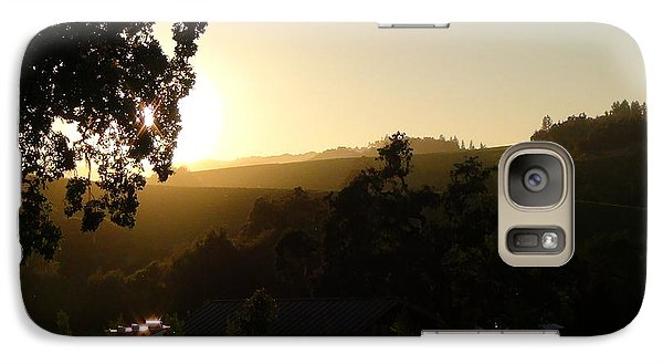 Galaxy Case featuring the photograph Sun Down by Shawn Marlow