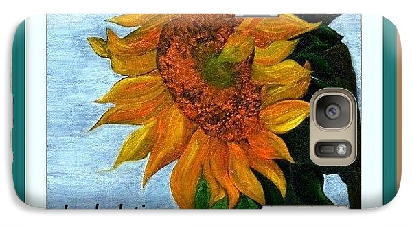 Galaxy Case featuring the painting Sun Flower by Denise Tomasura