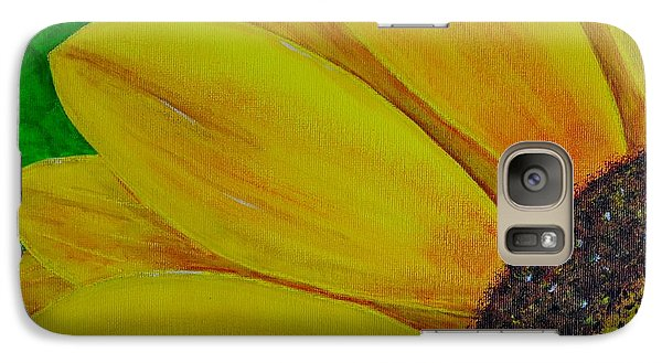 Galaxy Case featuring the painting Sun Flower by Melvin Turner