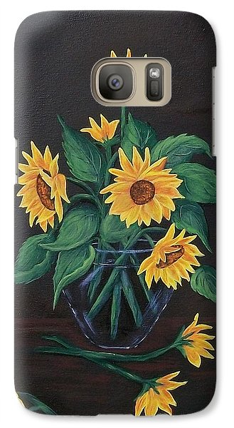 Galaxy Case featuring the painting Sun Flowers  by Sharon Duguay