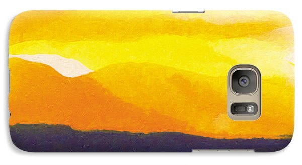 Galaxy Case featuring the painting Sun Glazed by The Art of Marsha Charlebois
