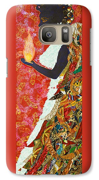Galaxy Case featuring the tapestry - textile Sun Guardian - The Keeper Of The Universe by Apanaki Temitayo M
