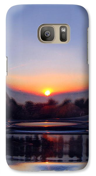 Galaxy Case featuring the photograph Sun In The Glass by Andreas Thust