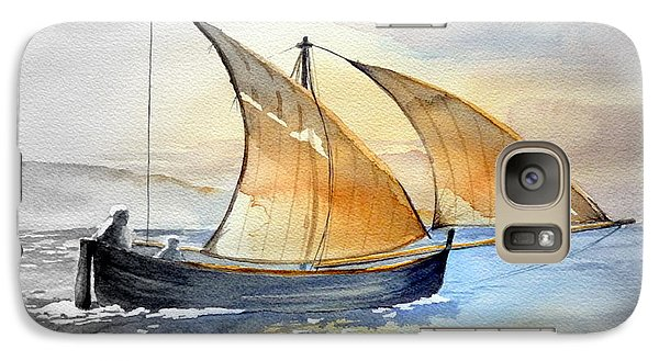 Galaxy Case featuring the painting Sun In The Sails  by Eleonora Perlic