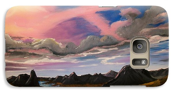 Galaxy Case featuring the painting Sun Jet by Sharon Duguay