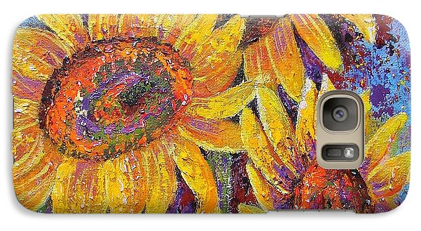 Galaxy Case featuring the painting Sun-kissed Beauties by Margaret Bobb