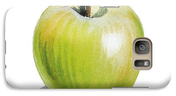 Galaxy Case featuring the painting Sun Kissed Green Apple by Irina Sztukowski