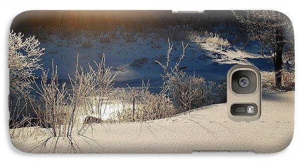 Galaxy Case featuring the photograph Sun On Snow by Mim White