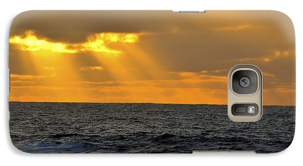 Galaxy Case featuring the photograph Sun Rays Through The Clouds by Alex King