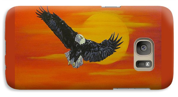 Galaxy Case featuring the painting Sun Riser by Wendy Shoults