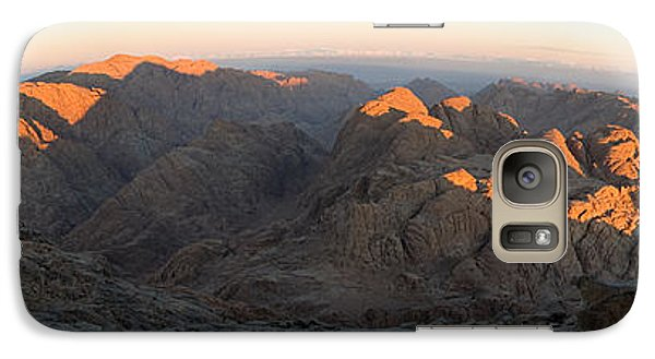 Galaxy Case featuring the photograph Sun Rising On Sinai - Wide Angle Panorama by Julis Simo