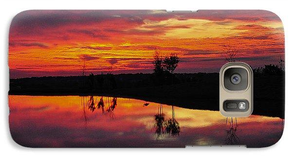 Galaxy Case featuring the photograph Sun Set At Cowen Creek by John Johnson