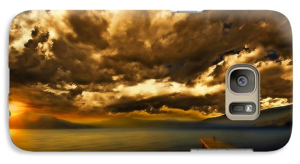 Galaxy Case featuring the photograph Sun Set At The Lake by Thomas Born