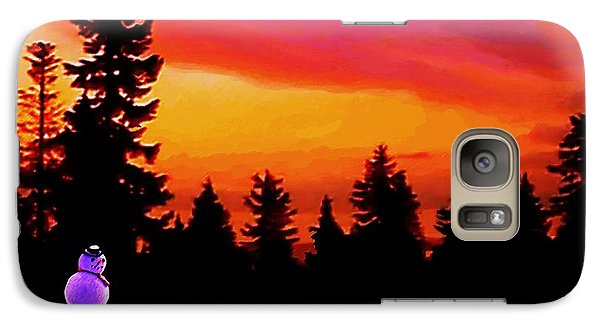 Galaxy Case featuring the painting Sun Setting On Snow by Sophia Schmierer