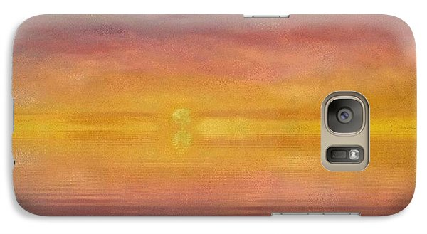 Galaxy Case featuring the painting Sun Tapestry by Holly Martinson