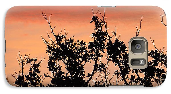 Galaxy Case featuring the photograph Sun Up Silhouette by Joy Hardee