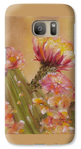 Galaxy Case featuring the painting Sun Worshipper by Judith Rhue