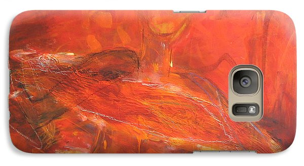 Galaxy Case featuring the painting Sunbathing St' Tropez by Fereshteh Stoecklein