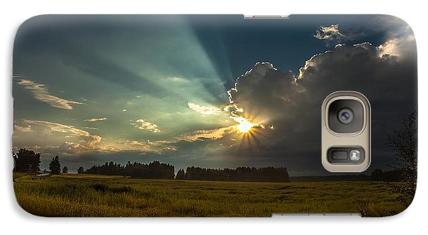 Galaxy Case featuring the photograph Sunbeam by Rose-Maries Pictures