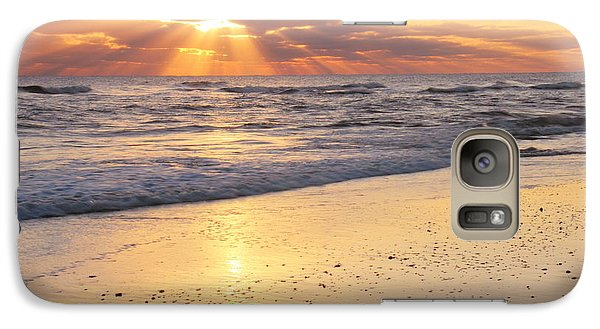 Galaxy Case featuring the photograph Sunbeams On The Beach by Roupen  Baker