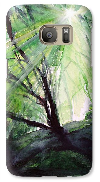 Galaxy Case featuring the painting Sunbeans Of Grace by Allison Ashton