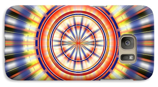 Galaxy Case featuring the digital art Sunburst by Brian Johnson