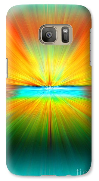 Galaxy Case featuring the photograph Sunburst by Clare VanderVeen