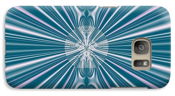 Galaxy Case featuring the digital art Sunburst In The Rain by Luther Fine Art