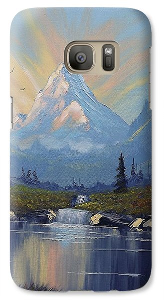 Galaxy Case featuring the painting Sunburst Landscape by Richard Faulkner