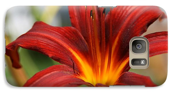 Galaxy Case featuring the photograph Sunburst Lily by Neal Eslinger