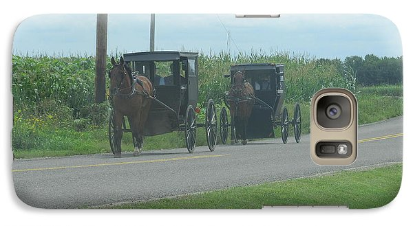Galaxy Case featuring the photograph Sunday Afternoon Ride by Tina M Wenger