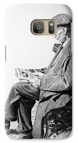 Galaxy Case featuring the painting Sunday Edition by Glenn Beasley