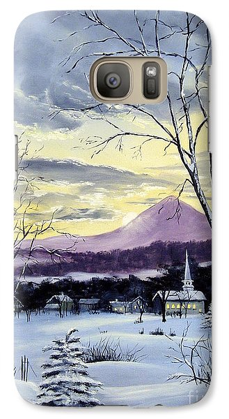 Galaxy Case featuring the painting Sunday In Winter by Lee Piper
