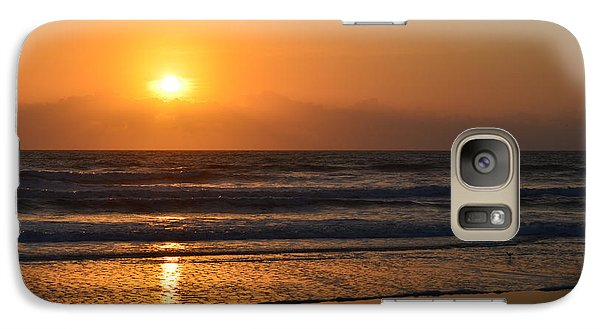 Galaxy Case featuring the photograph Sundays Golden Sunrise by DigiArt Diaries by Vicky B Fuller
