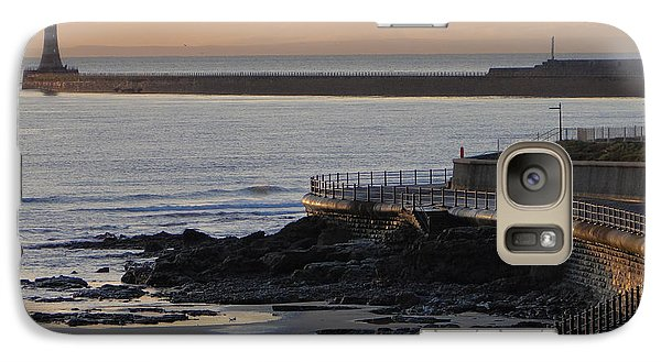 Galaxy Case featuring the photograph Sunderland Sunrise by Julia Wilcox