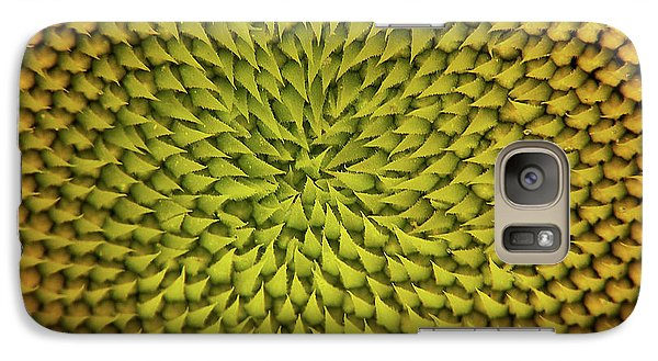 Galaxy Case featuring the photograph Sunflower Sundial by Britt Runyon