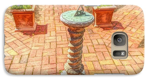 Galaxy Case featuring the photograph Sundial In The Garden by Becky Lupe