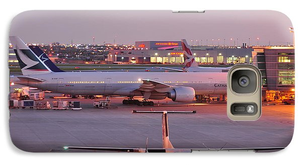Galaxy Case featuring the photograph Sundown   by Puzzles Shum